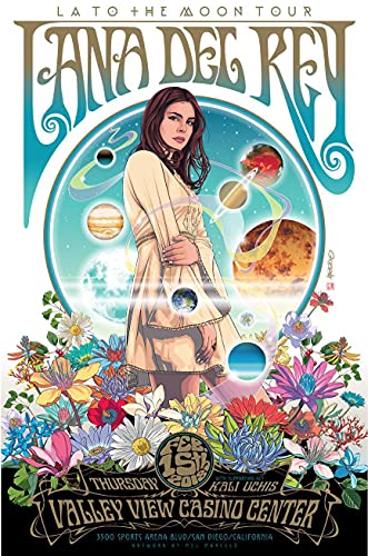 Divine Posters Lana Del Rey Musician Singer Songwriter 12 x 18 Inch...