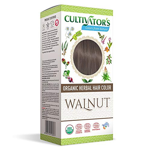 Cultivator's Haarfarbe, biologisch, pflanzlich, Walnuss, 100 g, 2 x 100 g