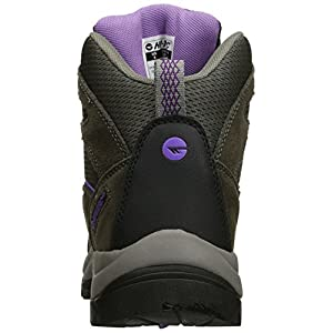 Hi-Tec Women's Skamania Waterproof-W Hiking Boot, Grey/Viola, 9.5 W US
