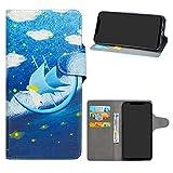 HHDY Xiaomi Mi 8 Funda, Diseño PU Cuero Libro Soporte Plegable y Ranuras para Tarjetas Dibujos Caso...