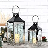 JHY DESIGN Set of 2 Stainless Steel Decorative Candle...