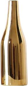 NEWBEER vaso per fiori in ceramica oro placcatura metallo fuori casa decorazioni, Thin Tall Bottle