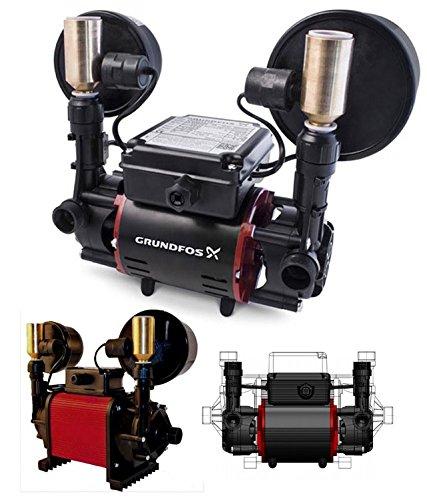 Grundfos Niagara Shower Pump 1.5 Bar - Twin Impeller Negative Head Universal