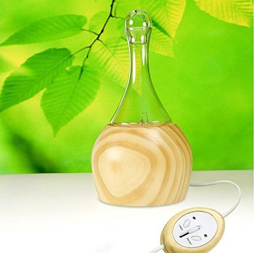 Aroflora - 604 - Simplia Difusor de aceites Esenciales por nebulización, de Vidrio y Madera