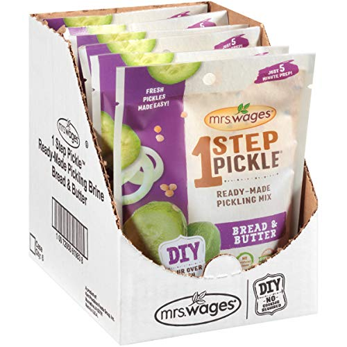 Mrs. Wages 1 Step Pickle Bread & Butter Ready-Made Pickling Mix, 8.93 Oz Pouch (VALUE PACK of 6)