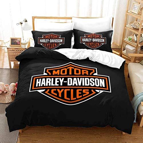 NBAOBAO Harley-Davidson dekbedovertrek set? 100% microvezel, super zacht en warm, geen stimulatie? 1 dekbedovertrek en 2…