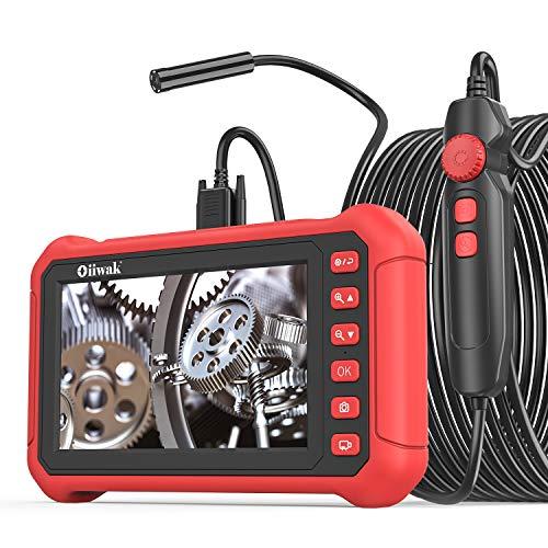 7' IPS Screen Industrial Endoscope, Oiiwak Inspection Camera 5.0 MP Borescope Camera Snake IP68...
