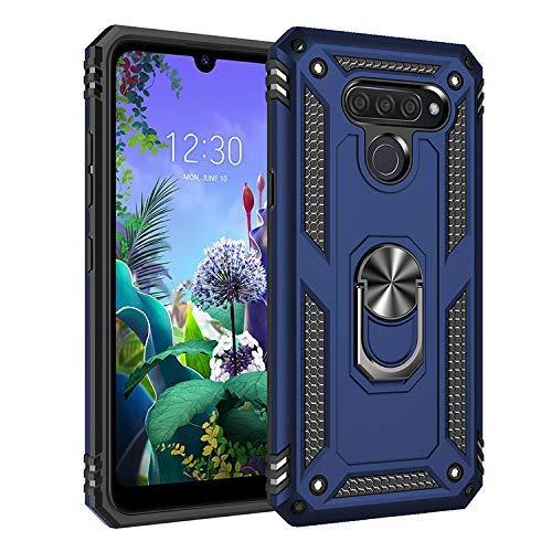 BestST LG K50 / LG Q60 Hülle, Xs Max Schutzhülle, Schlank Handyhülle Stoßfest Schutz TPU Doppelstruktur Fall Harte Rüstung Cover case Schale für LG K50 / LG Q60 mit Ständer(Blau)