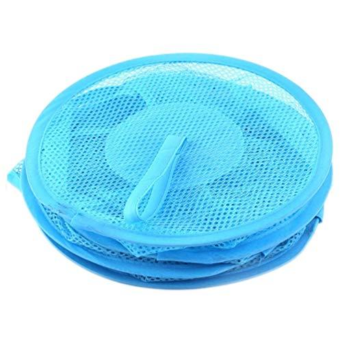 Dreischichtiger bunter Netzaufbewahrungsbeutel mit zylindrischer Netzform Hängender Korb Praktische Aufbewahrungswerkzeuge (blau)