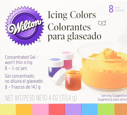 Assorted Colors Icing Colors 1/2 Ounce 8/Pkg W6015577