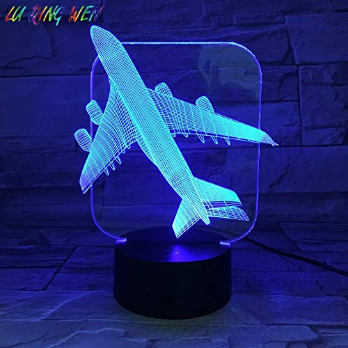 Airplane Kids Night Light Color Change Boy Baby Bedroom Decoration De Maison ping Table LED Night Light Table Lamp Aircraft