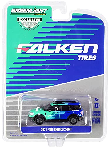 2021 Ford Bronco Sport FalkenTires Hobby Exclusive 1/64 Diecast Model Car by Greenlight 30279