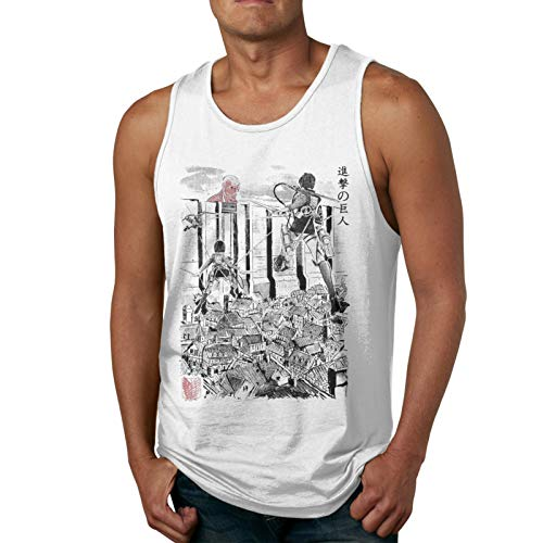 Yerolor Attack On Titan Flying for Humanity Muscle Gym Workout Sleeveless Shirt Tank Tops for Men