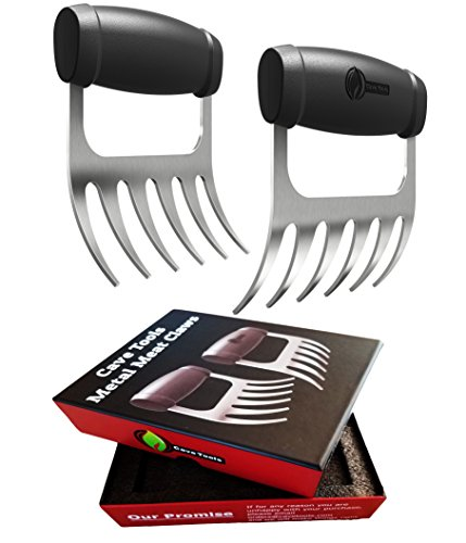 Best Prices! Cave Tools Meat Claws - Stainless Steel Pulled Pork SHREDDERS - BBQ Forks for Shredding...