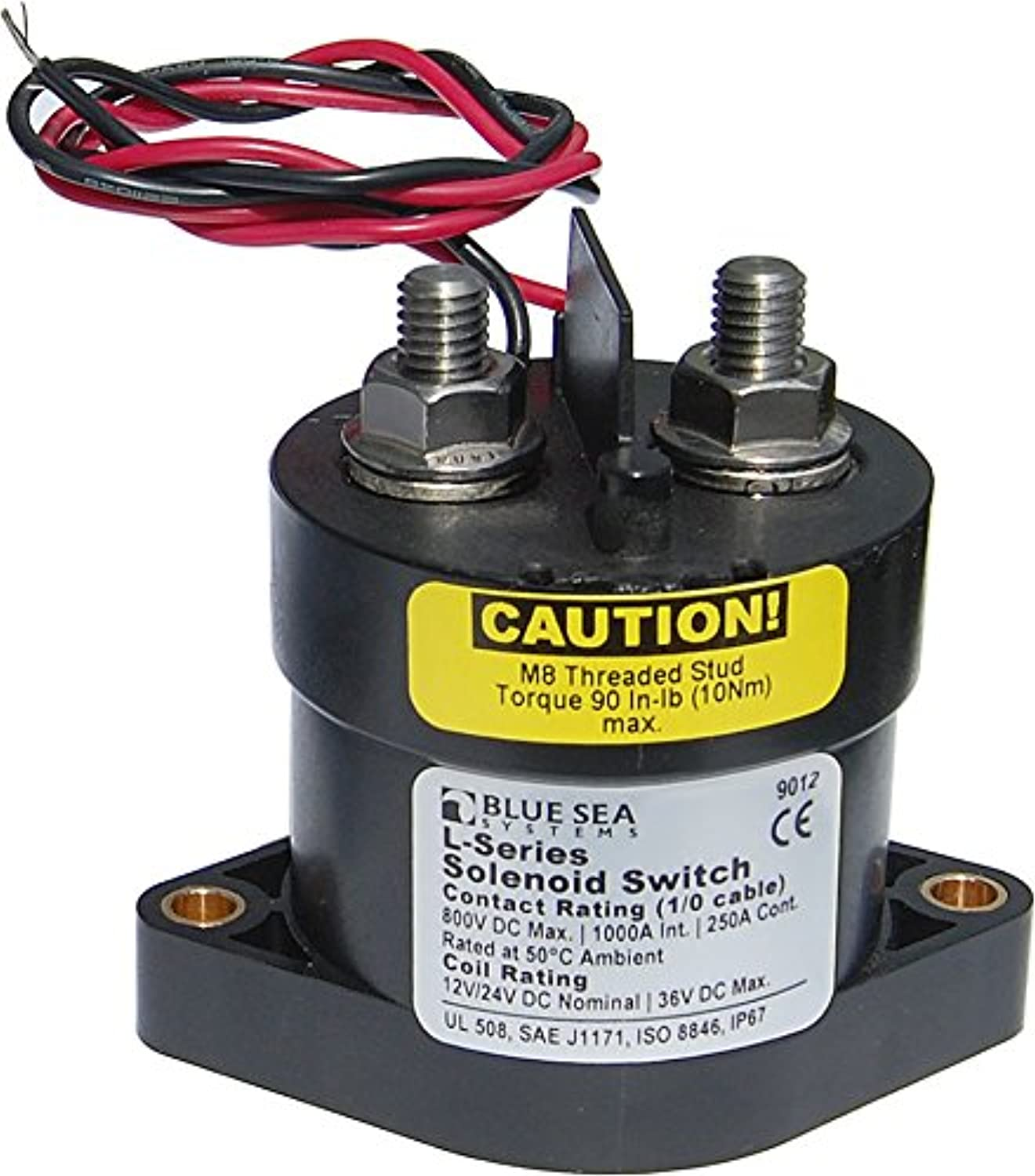 bluee Sea Systems 9012, L Solenoid12 24V DC 250A