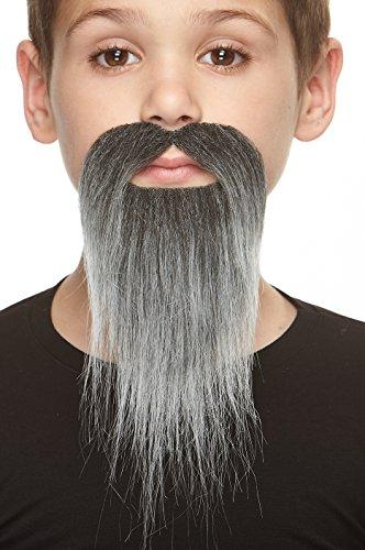 Mustaches Selbstklebende Kleiner Ducktail Fälschen Bart für Kinder Salz und Pfeffer Farbe