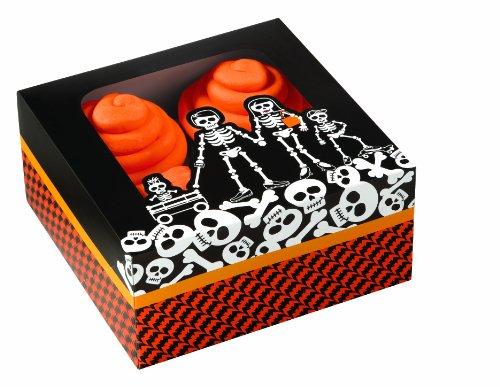 Wilton 15,9x 15,9x 7,6cm D Graveyard 4Cavity Cupcake-Box, 3Stück