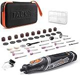 TACKLIFE-Mini Outil Rotatif, 8V Outil Multifonction sans fil avec 45 accessoires, Batterie au Lithium-ion 2.0Ah, Charge Rapide 1h, RTD02DC