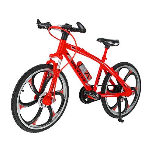 PRETYZOOM Mini Bicicletas de Dedo Bicicletas de Montaña Juguetes de Metal en Miniatura para La Colección Tres Colores a Elegir 1 Pieza