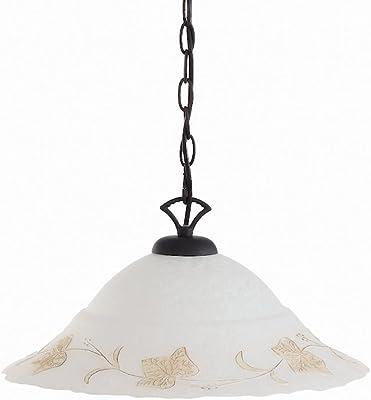 Ideal Lux Foglia SP1 D50 illuminazione da soffitto Ambra, Bianco E27 100 W