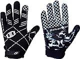 Seibertron Pro 3.0 12 costellazioni Elite Ultra-Stick Sports Receiver Gloves/guanti da football americano pro ricevitore Gioventù e bambini Black L