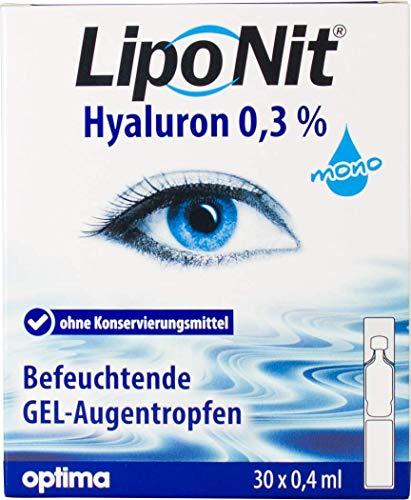 Liponit Augentropfen Gel mono 0,3% Hyaluron, 1er Pack(1 x 20 ml) LNMG