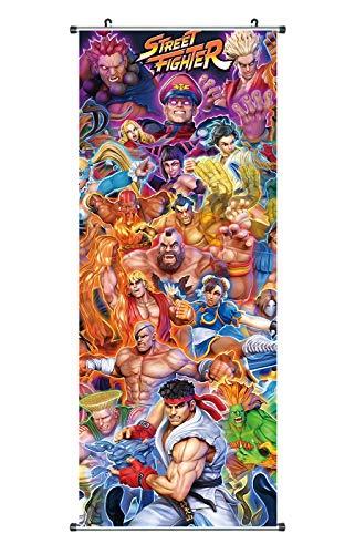 CoolChange Großes Street Fighter Rollbild | Kakemono aus Stoff | Poster 100x40cm | Motiv: Fighter