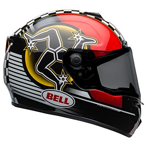 Bell SRT Street Motorcycle Helmet (Isle of Man 2020 Black/Red, Medium)
