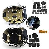 Kit de protection pour casque Kit de mousse de remplacement EVA tactique avec tapis magique pour bâton magique Tapis Doublure anti-collision universelle Protecteur d'éponge pour moto 19pcs