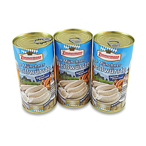 Münchner Weißwürste 3er Pack (3 Dosen à 4 Stück / 250 g)