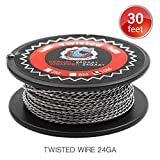 Twisted Draht 24 AWG Widerstand Wire, Vapethink Fertigwicklungen Coil Round,10 Meters
