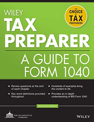 Compare Textbook Prices for Wiley Tax Preparer: A Guide to Form 1040 2 Edition ISBN 9781118072622 by The Tax Institute at H&R Block