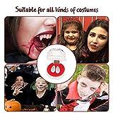 Voloki Vampiro Denture Set de 4 pares de cápsulas de sangre Vampiro Kit de dientes para Cosplay Party Props Halloween Party Fangs ventaja