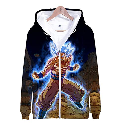 IUYITY-Dragon Ball-Unisex Hooded Pullovers,3D Printed Sweatshirts,Children's Casual Sweater Party Jacket, Polo Shirt-L
