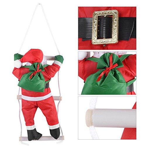 Zerodis Klimmen op Touw Ladder Kerstman Speelgoed Kerstboom Binnen Outdoor Ophangen Ornament Decoratie Kerstmis Feestdeur Wanddecoratie