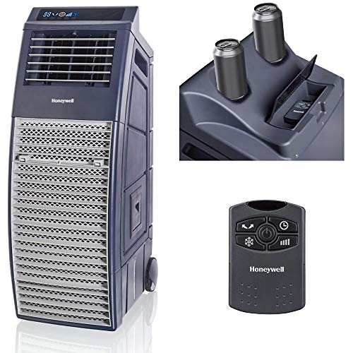 Honeywell GFCI Cord Outdoor-Safe Portable Evaporative Swamp Cooler & Fan, 830-1000 CFM, Gray