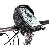 Emeili Bolso Bicicleta, Soporte para Teléfono con Marco De Bicicleta De Montaña con Pantalla Táctil TPU, Soporte De Bicicleta Impermeable para Teléfono Inteligente De Menos De 6 Pulgadas