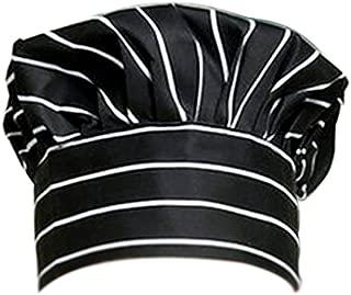 Dosige Chef Hat Hotel Camarero Suministros de Cocina Tienda de Pasteles Gorro de Tela Hombres y Mujeres Chef Trabajo Tapa Plisada Tapa de Seta(Rayas Blancas y Negras)