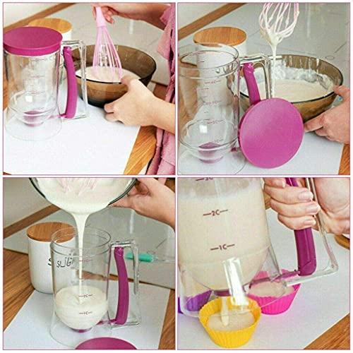 Pancake Cupcake Batter Dispenser Tool - 900ml/32 OZ Perfect for baking tools for cakes, pancakes, waffles, muffins