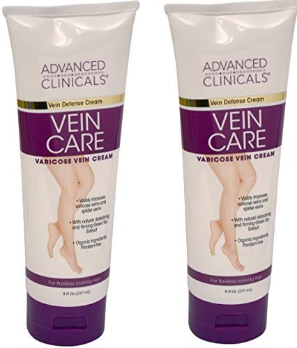 Advanced Clinicals Vein Care- Eliminate The Appearance of Varicose Veins. Spider Veins. Guaranteed Results! (8oz)