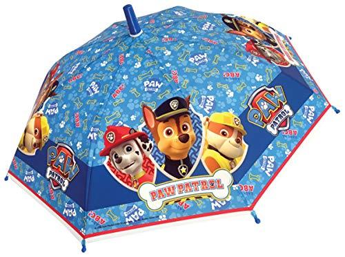 Chanos Chanos Paw Patrol Safety Runner Poe Embossed Folding Umbrella, 38 cm, Light Blue Regenschirm, Blau (Light Blue)