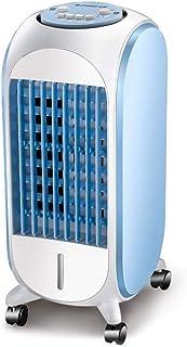 Ventilador de Aire Acondicionado Humidificación Móvil estático Solo frío Enfriador Silencioso Adecuado para Sala Familiar Restaurante Azul Claro