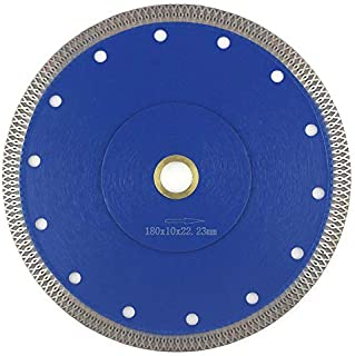 7 Inch Tile Blade,Stylish Y&I Porcelain Blade Super Thin Tile Cutter for Grinder Dry or Wet Ceramic Diamond Saw Blades With Adapter 7/8