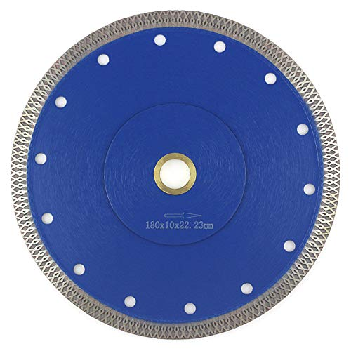 """7 Inch Tile Blade, Porcelain Blade Super Thin Tile Cutter for Grinder Dry or Wet Ceramic Diamond Saw Blades With Adapter 7/8"""",20mm,5/8 Inch Abor(7 inch)"""