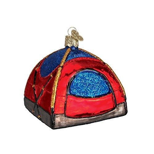 Old World Christmas Camping Outdoor Collection Glass Blown Ornaments for Christmas Tree Dome Tent