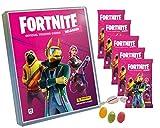 Serie 2 Fortneite 2 Trading Cards Reloaded (2020) – 1 carpeta vacía + 5 Booster adicionalmente recibirás 1 x surtido de pegatinas de frutas y caramelos