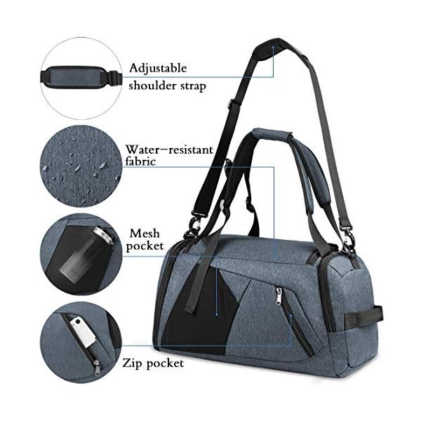 51arcQ42poL. SS600  - NUBILY Bolsa Deporte Hombre Bolsas Gimnasio Mujer Bolso Fin de Semana Viaje con Compartimento para Zapatos Gym Bag…