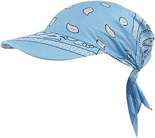 Fashion Womens Visor Hat Sunhat Printed Head Scarf Keep Warm Cap Topee Sun Hats For Women