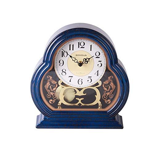 LIUJJ Glatter unbedeutender Hauptschlafzimmerwohnzimmer-Wanduhrstummer Cloisonne der eleganten kleinen Uhr der Weinlese