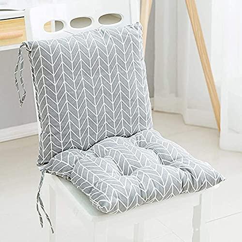 sunshinelh Cojín de respaldo con correas, cojín de respaldo bajo, cojín para silla de comedor de jardín, cojín para interior y exterior, suave, grueso (Q)